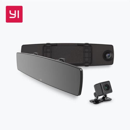 """200MP 4.3"""" Touch Screen Dual HD Wireless Yi Mirror Dash Cam"""