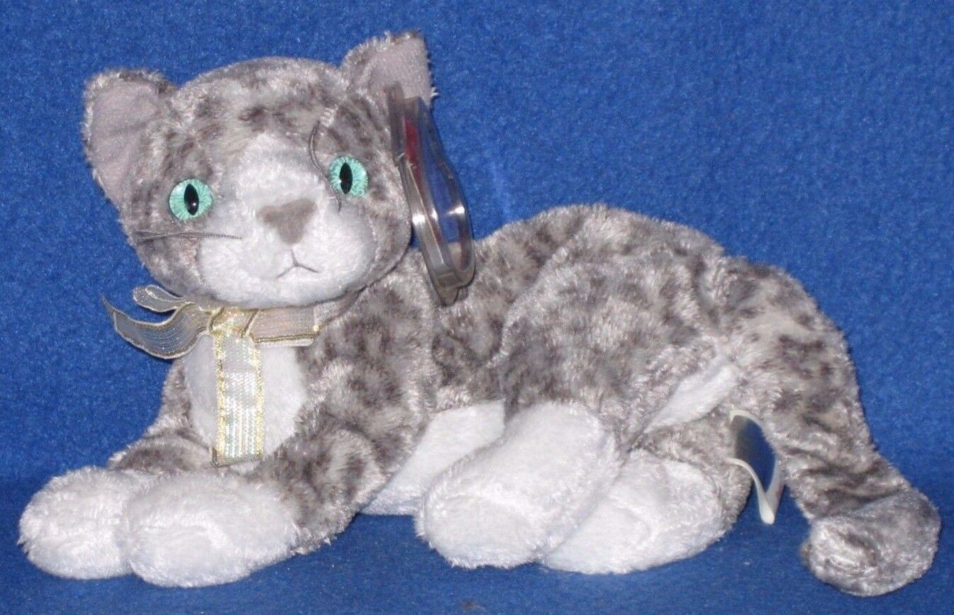 28ba4bc9331 Ty Beanie Baby Purr The Cat MWMT Retired Birthday March 18 2000 for sale  online