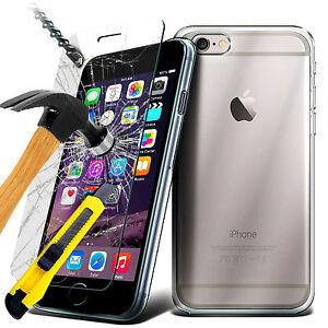 HOUSSE-COQUE-GEL-SILICONE-TPU-iPhone-5S-6-6S-7-7-Plus-FILM-VITRE-VERRE-TREMPE
