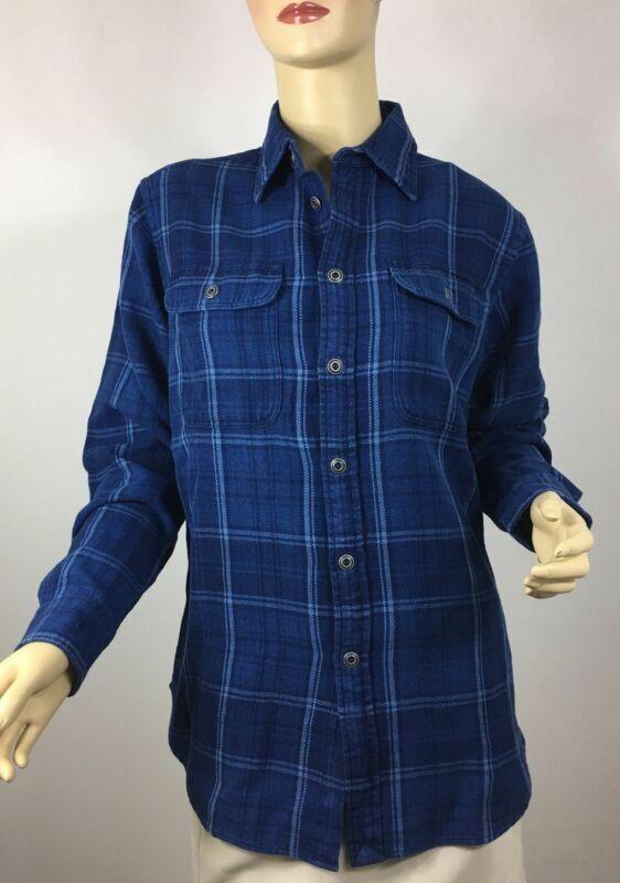 Ralph Lauren Button Front damen Shirt XS Relaxed Fit Indigo Blau Cotton
