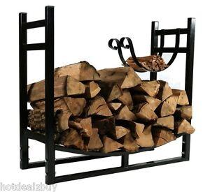 Image Is Loading Firewood Storage Wood Rack Log Heavy Duty Kindling