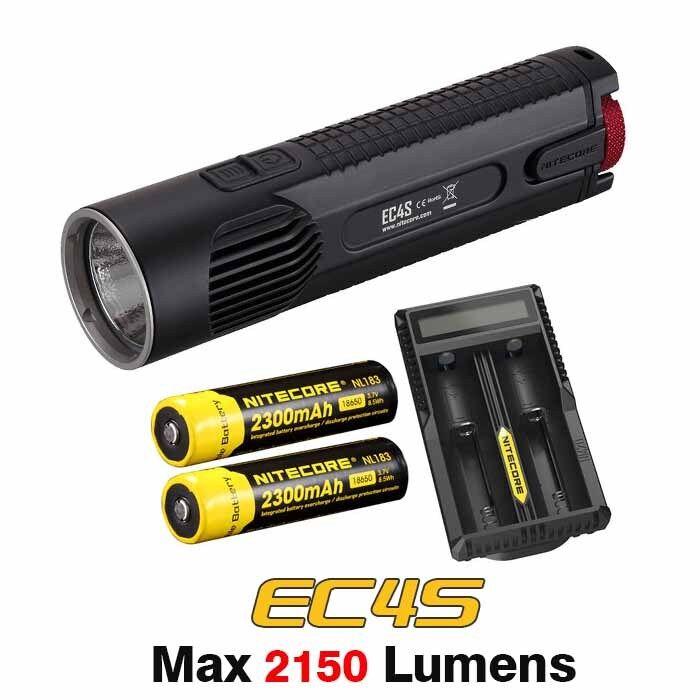 Nitecore EC4S CREE XHP50 DEL Weiß Froid 2150lms Lampe de Poche Torche + Batterie + Chargeur