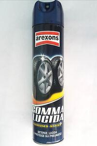 ultima collezione cerca il meglio liquidazione a caldo Dettagli su Arexons Gomma Lucida Schiuma Attiva - Lucida Deterge Protegge  Pneumatici 400ml