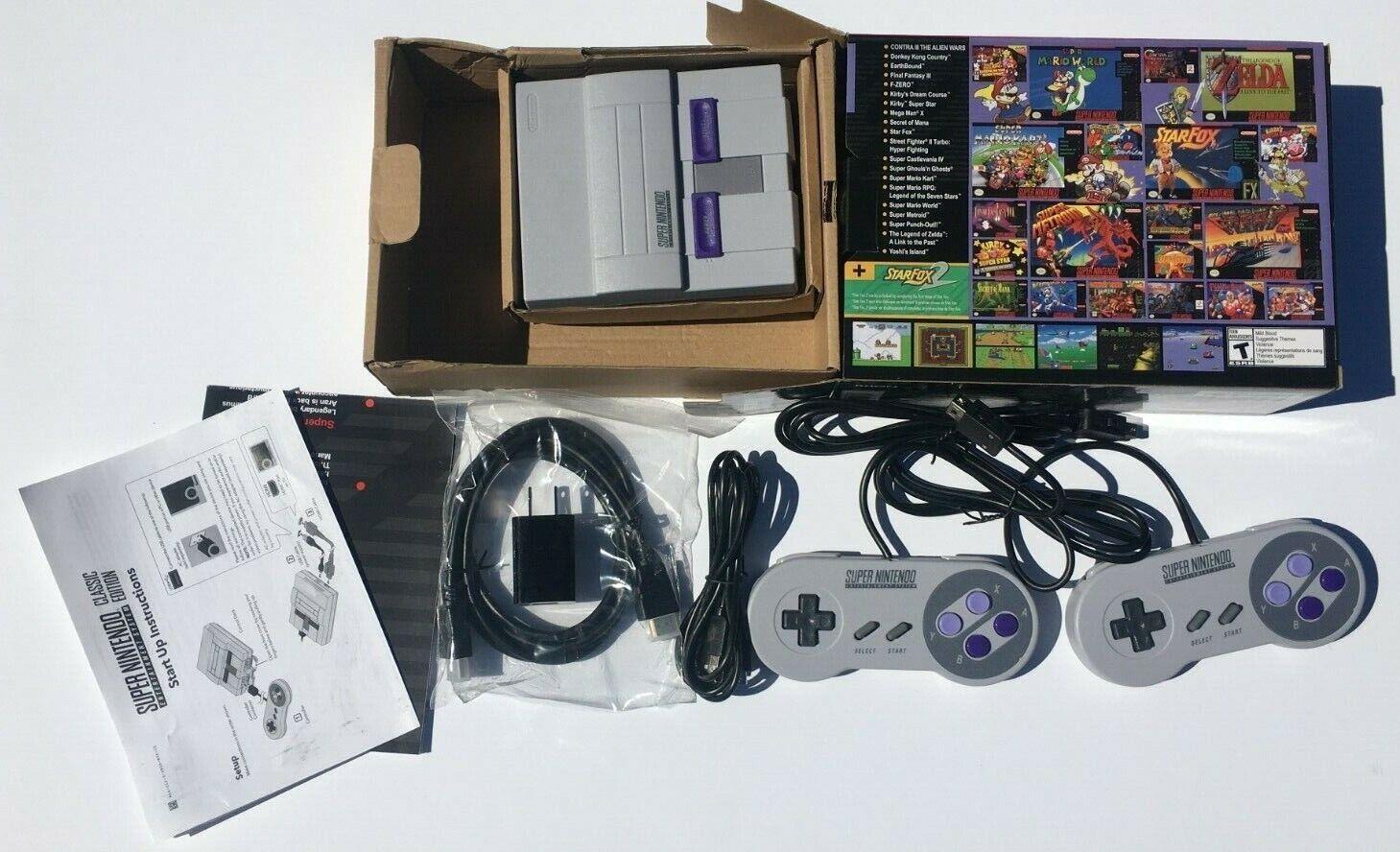 SNES Super Nintendo Classic Mini Entertainment System 21 Games