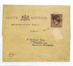 South Australia Entiers Postaux Allemagne Hanovre Qv {samwells Couvre -} Cw168-rs} Cw168afficher Le Titre D'origine