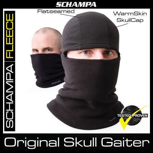 Schampa Warm Skin Totenkopf Gamasche Doppellagig Vlies Hut Nwt