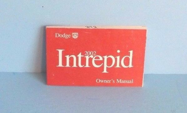 02 2002 Dodge Intrepid owners manual Car & Truck Manuals Parts ...