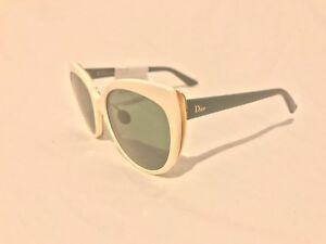 d585e69786 NEW) Christian Dior DIORIFIC 1N Cream W  Gold   Green Sunglasses ...
