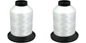 2-Pcs-White-Nymo-Nylon-Beading-Thread-Stringing-Sz-D-1584yds