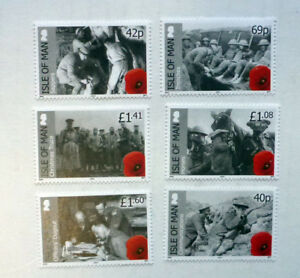 2014-ISLE-OF-MAN-WWI-SET-OF-6-MINT-STAMPS-MNH