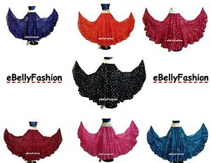 JAIPUR-Tribal-25-Yard-4Tier-Gypsy-Skirt-Belly-Dance-Tie-amp-Dye-Polka-Dot