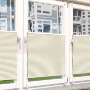 Jalousie-Klemmfix-Plissee-Faltrollo-Rollo-Fenster-Easyfix-ohne-Bohren