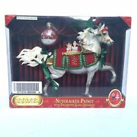 Breyer Horse Nutcracker Prince 2009 Holiday Gray Huckleberry Bey Glass Ornament