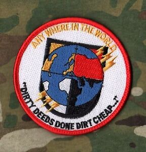 3rd SPECIAL FORCES SFG GROUP PATCH: Dirty Deeds done Dirt Cheap