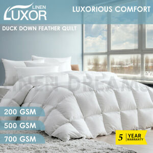 White-Duck-Down-Feather-Quilt-Duvet-Doona-All-Season-Summer-Winter-All-Size