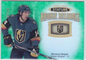 19/20 STATURE...NICOLAS HAGUE...ROOKIE RELIANCE.../99...# RR-37...GOLDEN KNIGHTS
