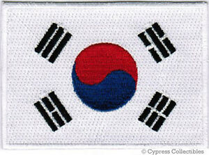 SOUTH-KOREA-FLAG-embroidered-iron-on-PATCH-KOREAN-REPUBLIC-SEOUL-Taegeukgi-NEW