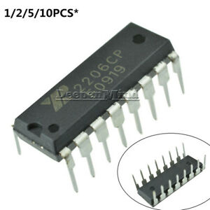 2206CP Monolithic Function Generator IC EXAR DIP-16 XR2206CP FREE SHIPPING New