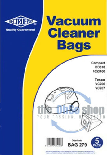 TESCO Vacuum Cleaner Bags To Fit VC207 VC206 VC406 5 x PROACTION