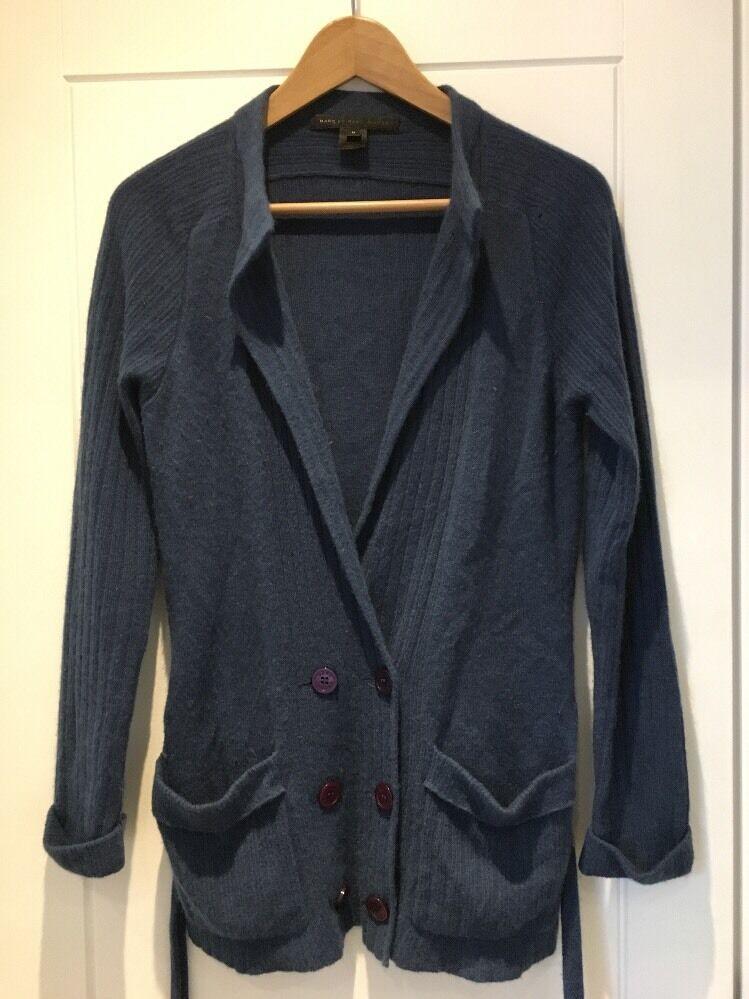 MARC  JACOBS Azul súper Suave Cachemira Abuelo Cochedigan Sweater M Mediano  tienda de venta