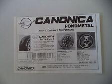 advertising Pubblicità 1981 RUOTA CANONICA FONDMETAL - ASTI