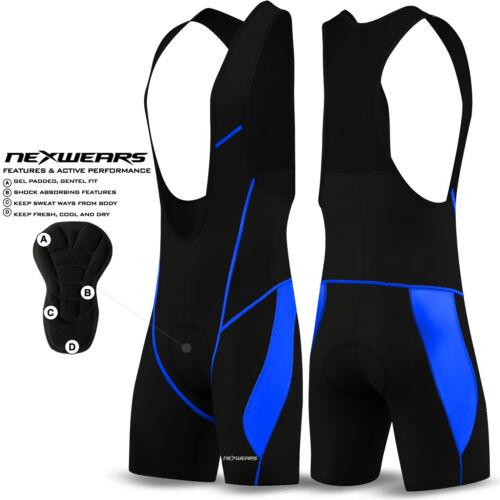 Mens Cycling Bib Shorts Cycle Compression Lycra Tights Pants Coolmax Padded