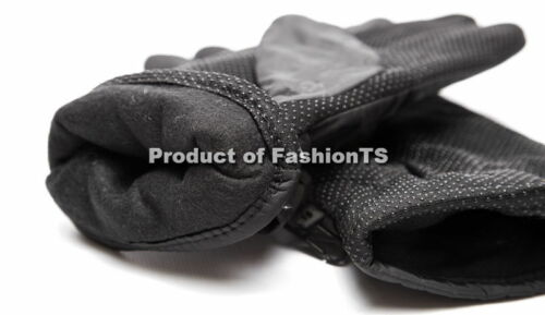 Men/'s Thermal Insulation Winter Gloves Wind Resist Black Warm Motorcycle Biking