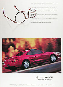 1994 TOYOTA MR2 Genuine Vintage Ad ~ Fire Engine RED~ FREE SHIPPING!