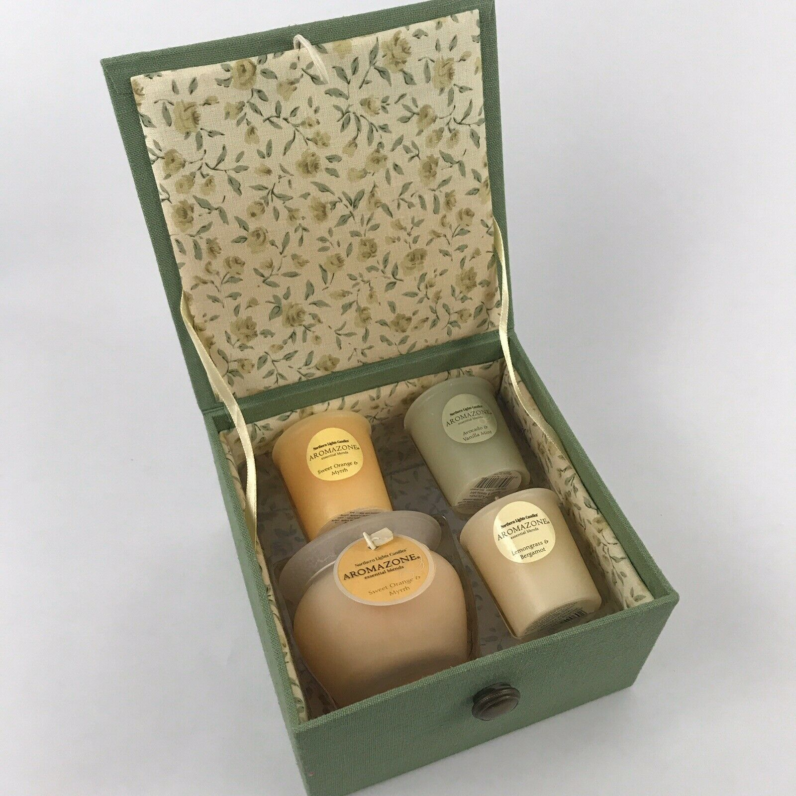 Northern Lights Candles Nlc Wide Tapers 12Pc Box Moss Green 10 Inch
