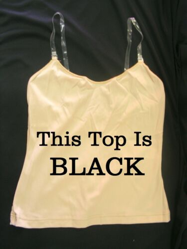 Clear Adjustable Strap Cami Top 14-16 Capezio 1421 Black Women/'s Extra Large
