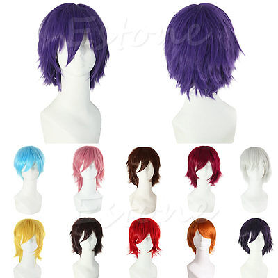 HOT SELL New Fashion Short Straight Wig Cosplay Party Hair Wigs