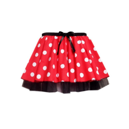 """Minnie Mouse Fancy Dress TUTU 12/"""" length Accessories Set With Ears,Tail /& Bow"""
