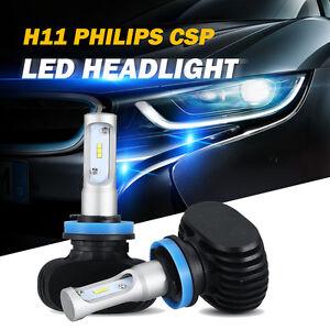 2x h11 h8 h9 philips csp led car headlight low beam bulbs. Black Bedroom Furniture Sets. Home Design Ideas