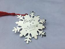 Memoriale Pet personalizzata Decorazione Natalizia Fiocco Di Neve Forma
