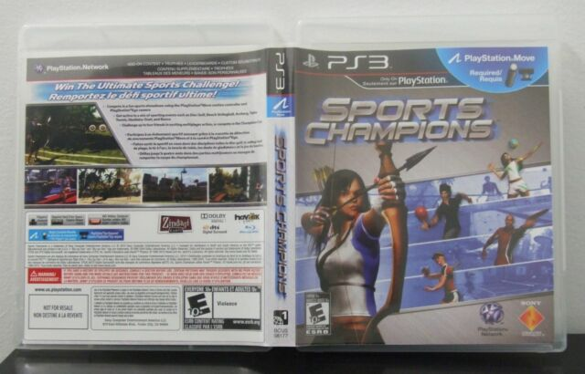 USED SONY PLAYSTATION 3 PS3 SPORTS CHAMPIONS COMPLETE WITH MANUAL FREE SHIPPING