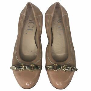 Attilio Giusti Leombruni Shoes   Agl Gold Leather Cap Toe