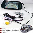 "7"" LCD Screen Car Rear View Backup Parking Mirror Monitor Sensor DVD/VCD/GPS/TV"