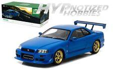GREENLIGHT 1:18 1999 NISSAN SKYLINE GT-R (R34) DIE-CAST BLUE 19032