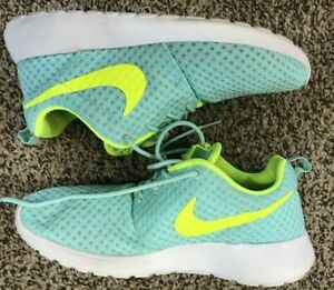 Details about Nike Roshe Run Sky Green 724850 371 Women's SZ 7 Trainers Running Shoes