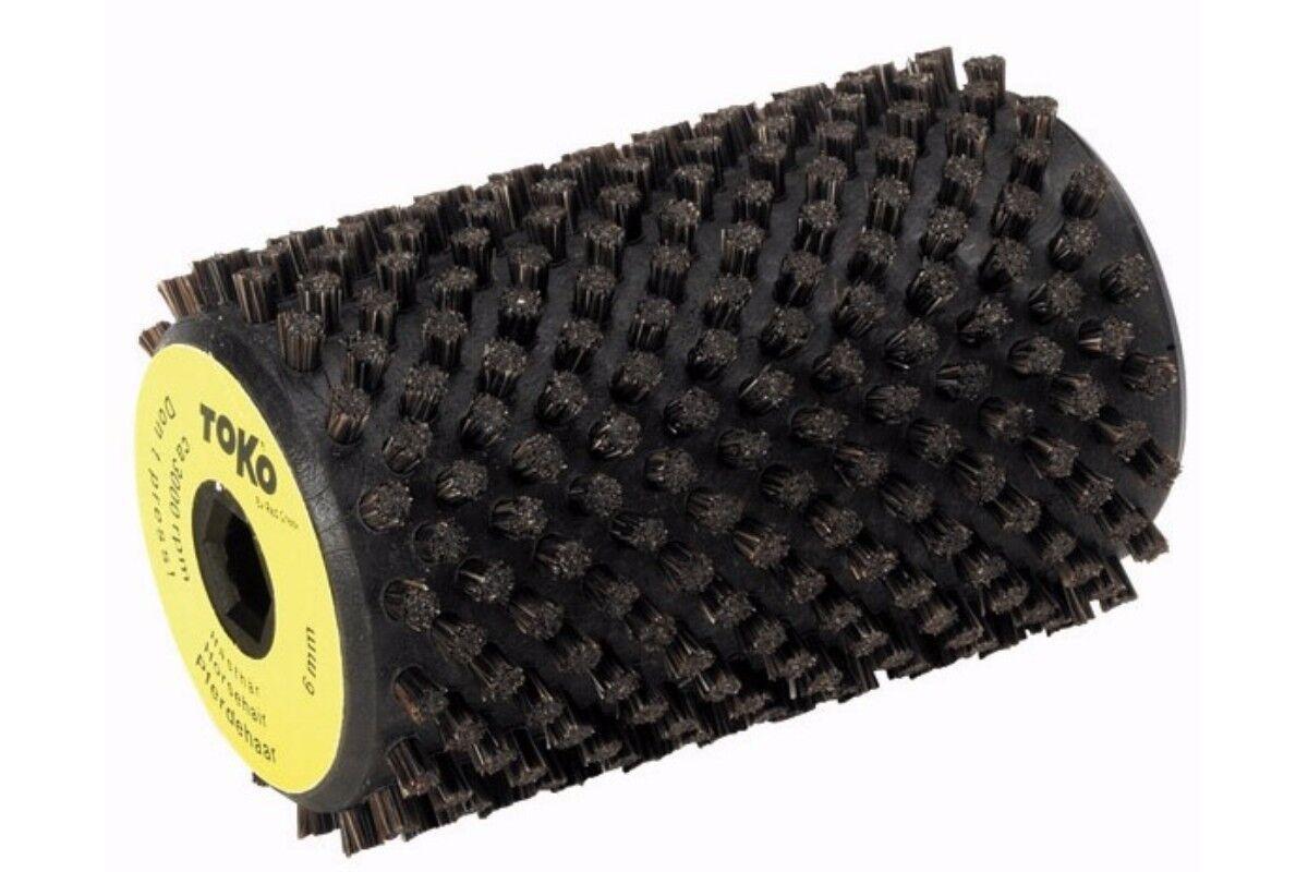 Toko Horse Hair redary Brush - 6mm - 5542531   Drill Speed Ski Tuning Equipment