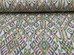 Marrakesch-Ikat-Apple-Panama-Baumwolle-Fibre-Naturelle-Vorhang-Handwerk-Stoff