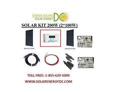 Solar Panel KIT Panneau Solaire 200W 200 Watt (2 * 100 W) mono 12V RV Z brackets