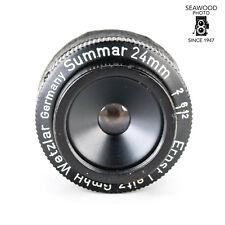 徕卡 24mm f/2 summar 宏波纹管镜头好