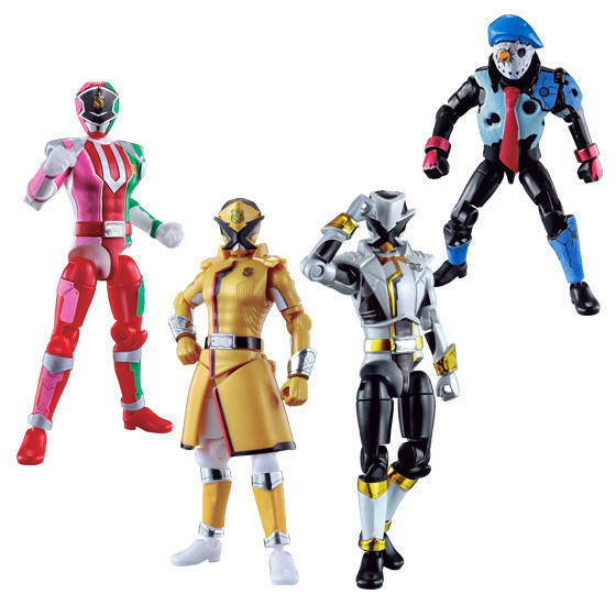 Sällsynta Power Rangers Shokugan Yu -Do våg2 Lupinranger mot Patoranger Action Figures