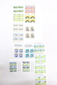 Briefmarken-Sondermarken-Philatelie-Liechtenstein-Viererblockserien