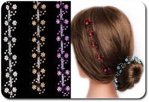 Set-6-Haarklemmen-Blumen-Haarklammer-Haarclips-Mini-Haarkrebs-8-Farben-Blume