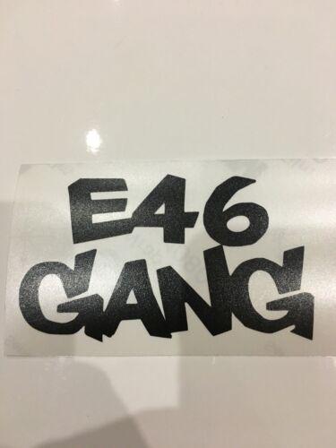 autocollant bmw e46 gang 11x6cm Plusieurs Couleurs