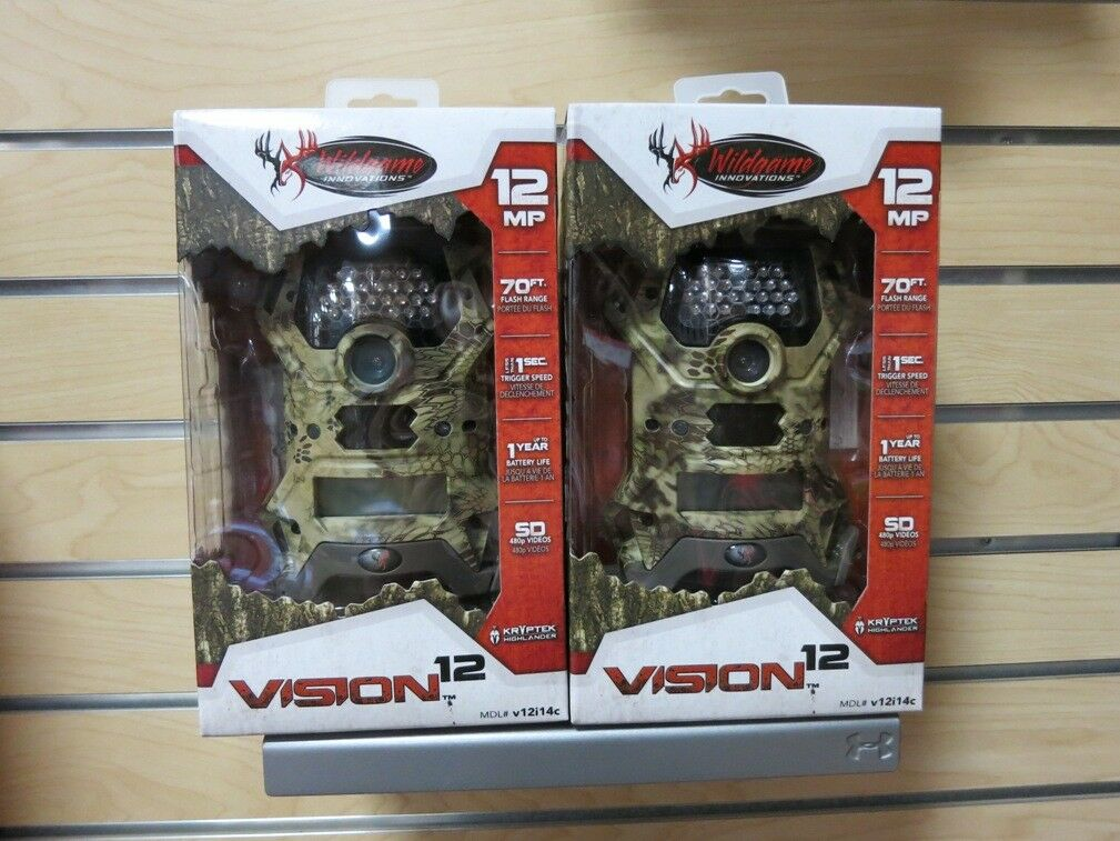 (2) Wildgame Innovations Vision 12 Trail Cam Scouting Stealth Camera   fast shipping and best service