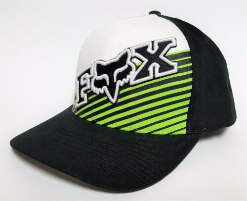 FOX RACING Flexfit Hat COUNTERACTIVE Black Green $30 NEW Cap MX BMX Surf MOTO