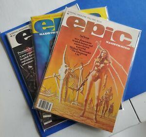 Epic-Illustrated-1-2-3-Marvel-Comics-1st-appearance-of-Dreadstar-Jim-Starlin